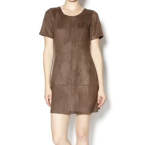 Paper Crane Faux Suede Mini Dress